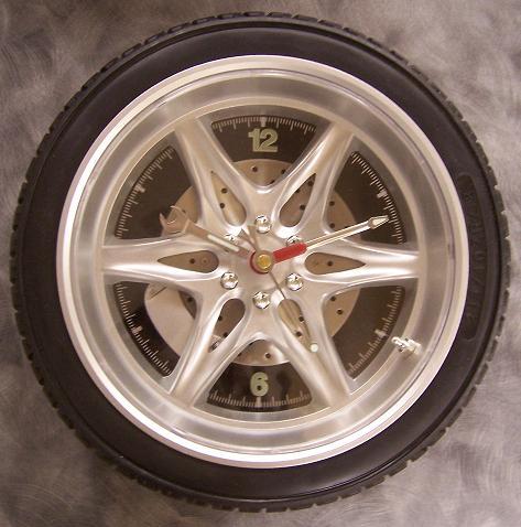 Tire Clock black wall clock thumbnail