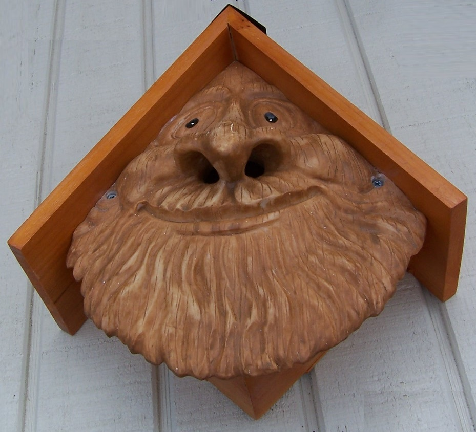 Bird House Woodsman Old Man Face NEW wall fence or tree ...Old Man Face Birdhouse