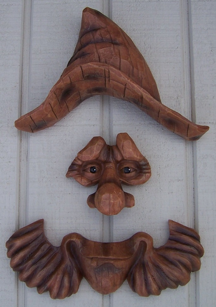Garden Accent Tree Face Woodsman Billy Wall Fence Shed New