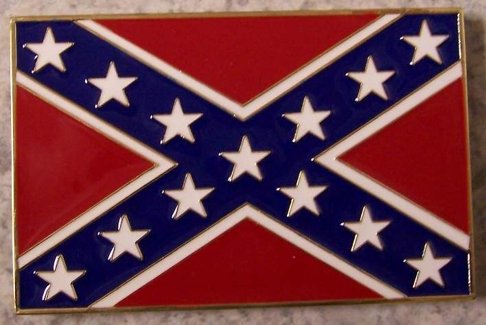 Confederate States of America Flag Car Grill Badge thumbnail