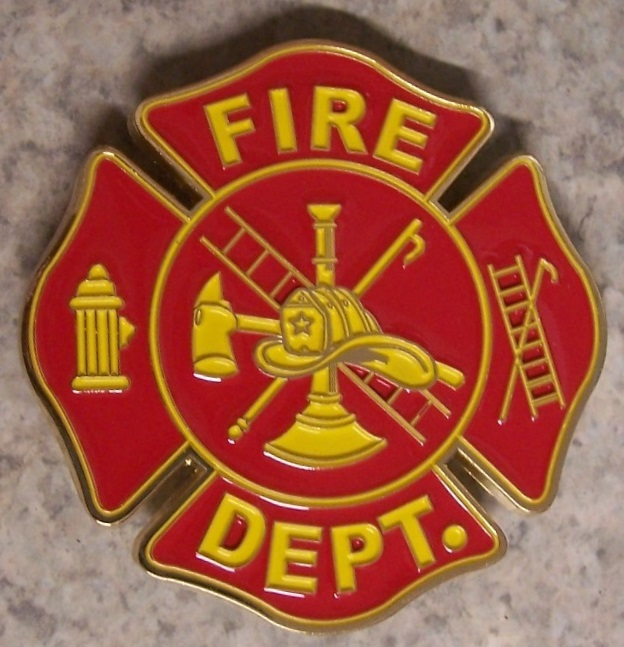 Fire Department Car Grill Badge
