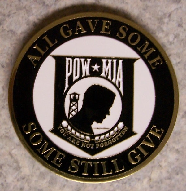POW MIA Car Grill Badge thumbnail