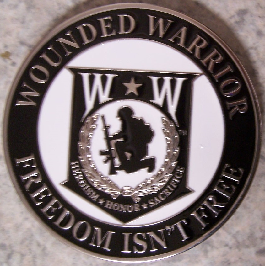 Wounded Warrior Car Grill Badge thumbnail