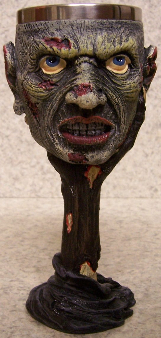 Ghoul Face Wine and Champagne Goblet 6 ounce pour thumbnail