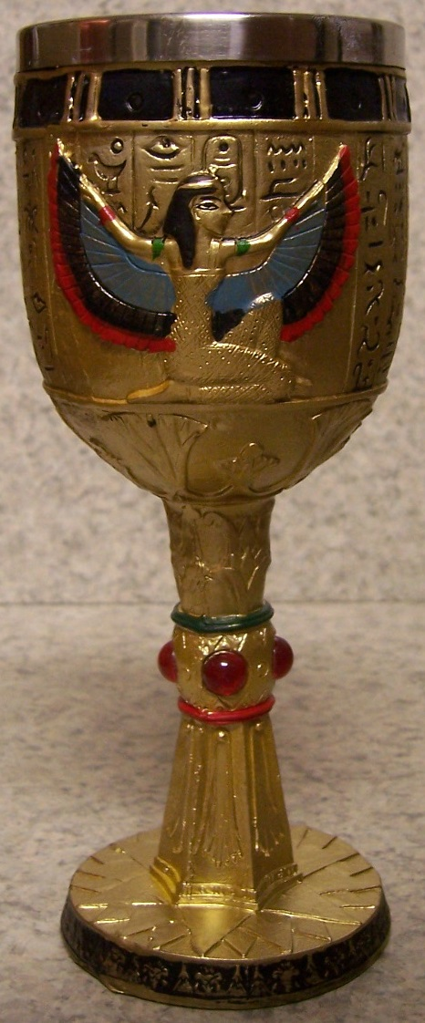 Egyptian Goddess Isis Wine and Champagne Goblet 6 ounce pour thumbnail