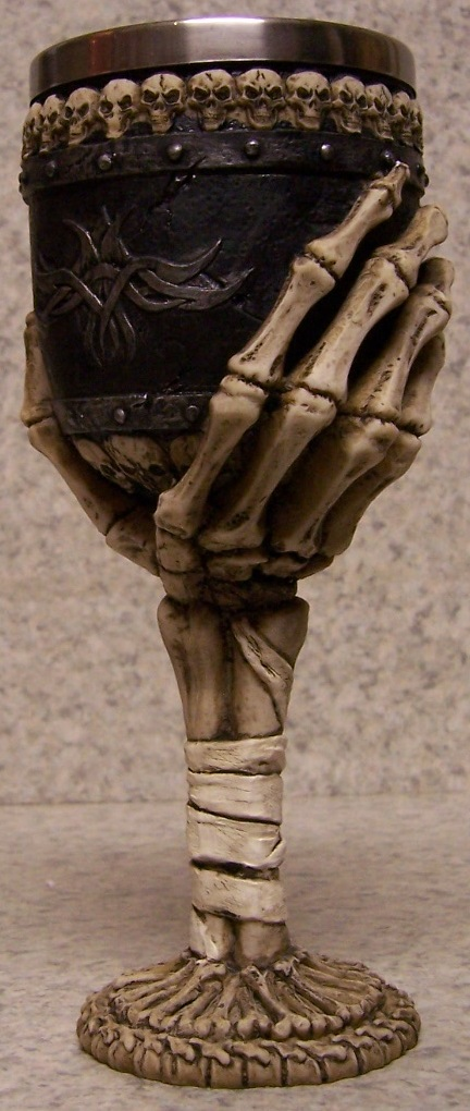 Skeletal Hand Wine and Champagne Goblet 6 ounce pour thumbnail