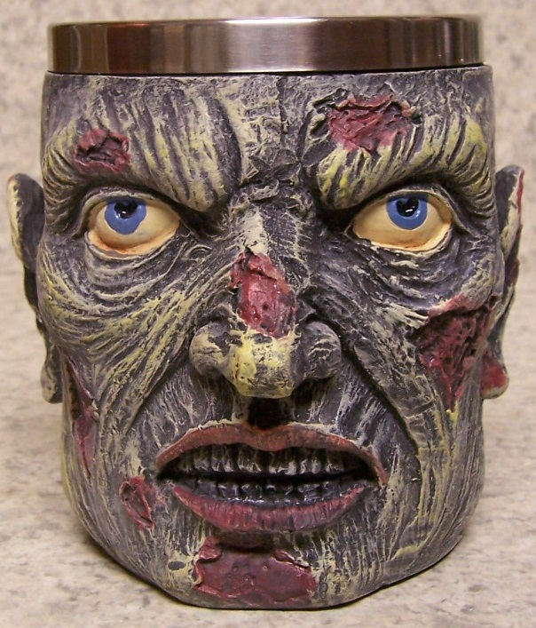 Ghoul Face Beer Tankard or Coffee Mug 12 ounce pour thumbnail