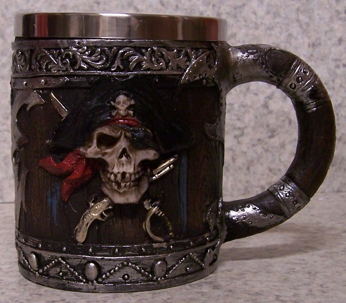 Pirate Beer Tankard or Coffee Mug 12 ounce pour thumbnail