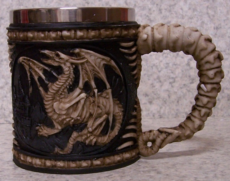 Winged Dragon Beer Tankard or Coffee Mug 12 ounce pour thumbnail