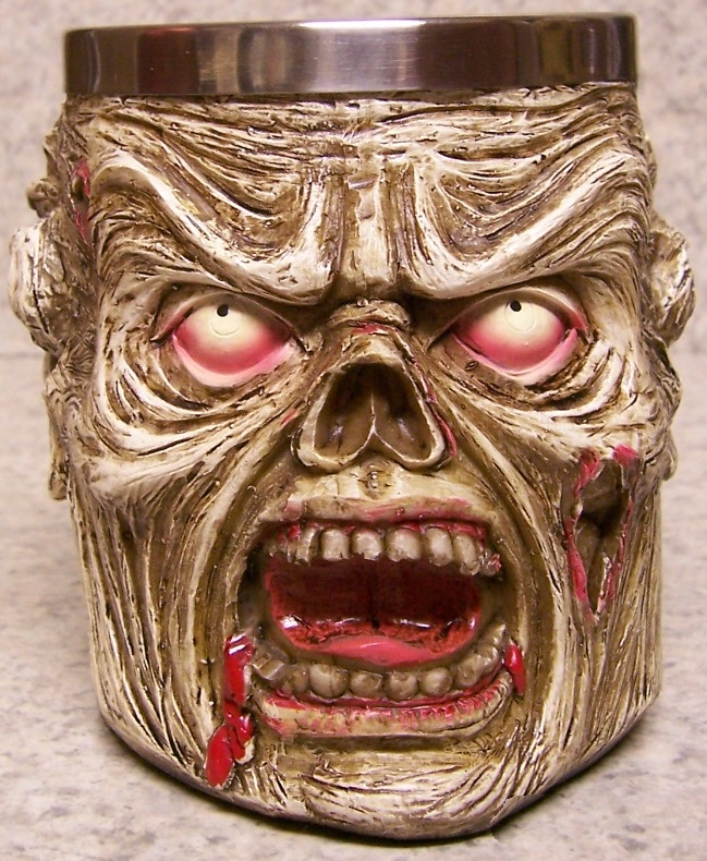 Zombie Face Beer Tankard or Coffee Mug 12 ounce pour thumbnail