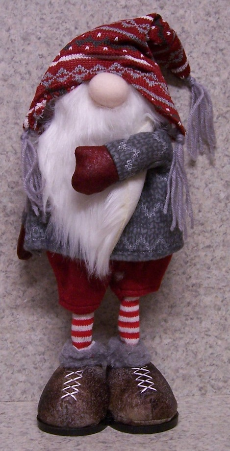 Christmas Gnome polyester Table Decor 094B http://lionheart-designs.com/inventory.shtml