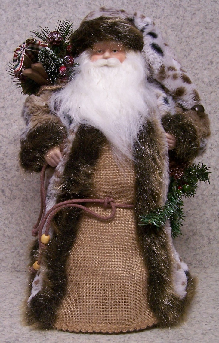 Christmas Woodland Santa Table Decor Tree Topper thumbnail http://lionheart-designs.com/inventory.shtml