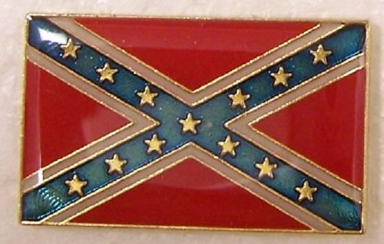 Battle Flag Confederate States of America CSA metal hat or lapel pin thumbnail
