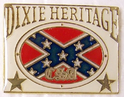 Dixie Heritage Confederate States of America CSA metal hat or lapel pin thumbnail