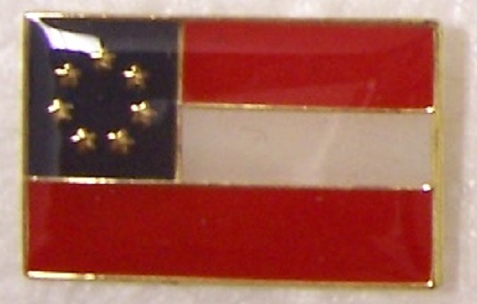 First National Flag Confederate States of America CSA metal hat or lapel pin thumbnail