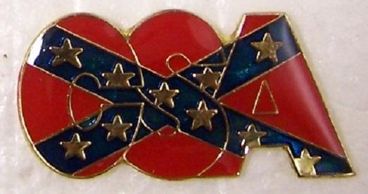 CSA Text Logo Confederate States of America CSA metal hat or lapel pin thumbnail