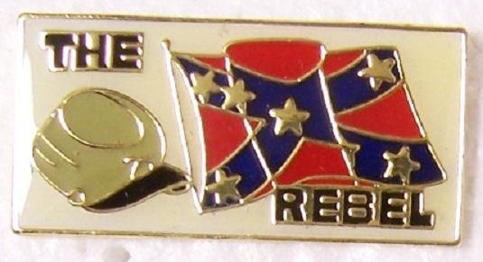 Rebel Cap and Flag Confederate States of America CSA metal hat or lapel pin thumbnail