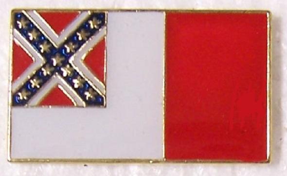 Third National Flag Confederate States of America CSA metal hat or lapel pin thumbnail