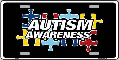 Autism Awareness Aluminum License Plate thumbnail