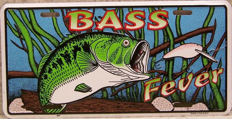 Bass Fever Aluminum License Plate America at Play thumbnail