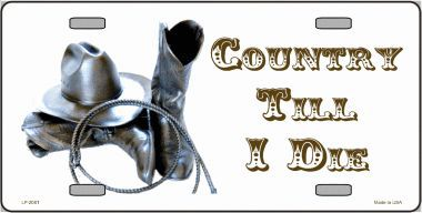 Country Till I Die Aluminum License Plate thumbnail