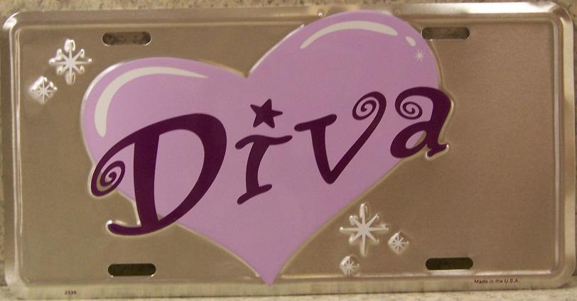 Diva Aluminum License Plate thumbnail