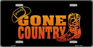 Gone Country Aluminum License Plate thumbnail