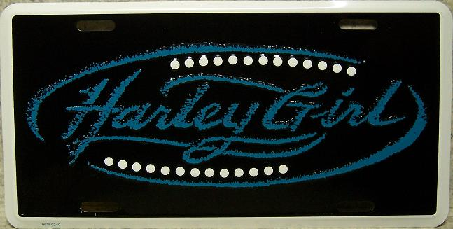Harley Girl Aluminum License Plate thumbnail