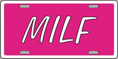 MILF Aluminum License Plate thumbnail