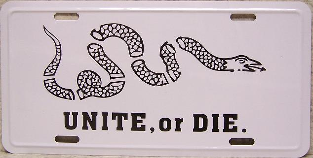 Table Lamp Americana Unite Or Die Snake New With Shade Ebay