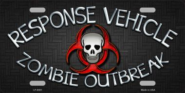 Zombie Outbreak Response Vehicle Aluminum License Plate thumbnail