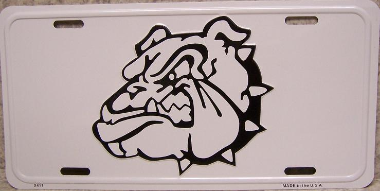 Bulldog Aluminum License Plate Birds and Animals thumbnail