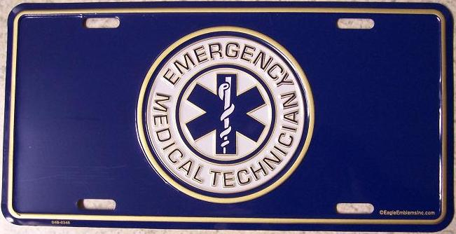 Emergency Medical Technician Aluminum License Plate America at Work thumbnail