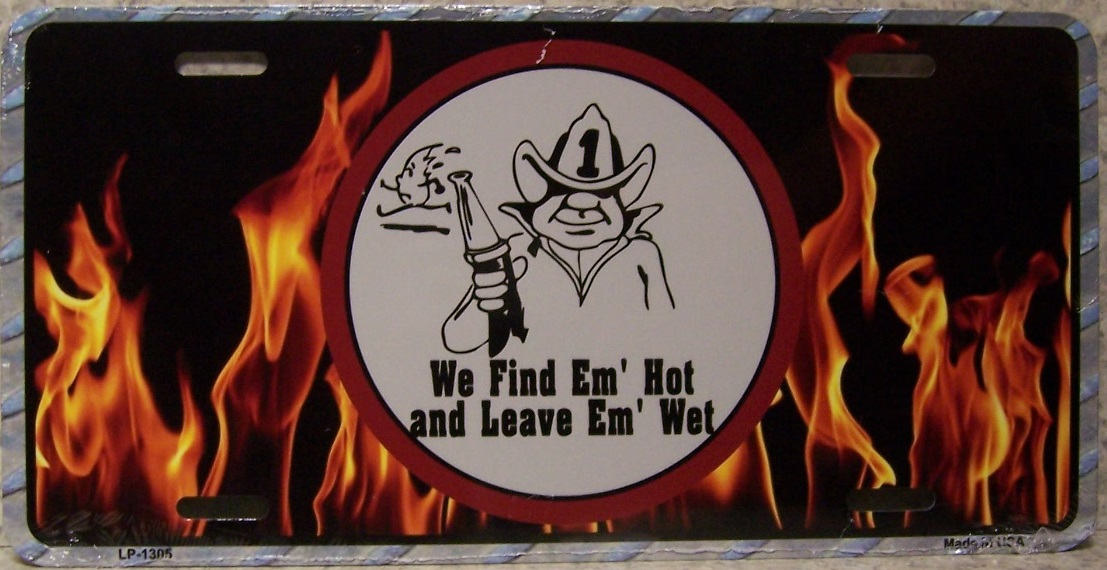 Find them hot leave them wet Aluminum License Plate America at Work thumbnail
