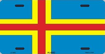 Aland Islands Aluminum License Plate International Flag thumbnail