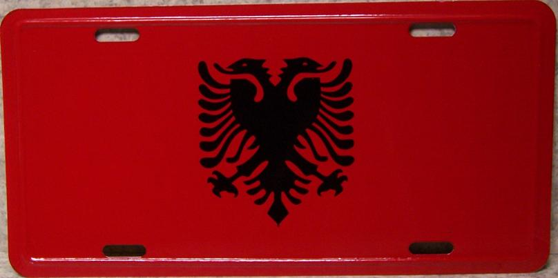 Albania Aluminum License Plate International Flag thumbnail
