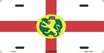 Alderney Aluminum License Plate International Flag thumbnail