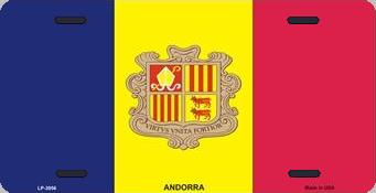 Andorra Aluminum License Plate International Flag thumbnail