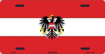Austria Aluminum License Plate International Flag thumbnail