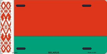 Belarus Aluminum License Plate International Flag thumbnail