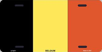Belgium Aluminum License Plate International Flag thumbnail
