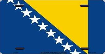 Bosnia-Herzegovina Aluminum License Plate International Flag thumbnail