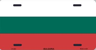 Bulgaria Aluminum License Plate International Flag thumbnail