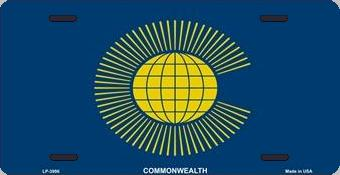 Commonwealth of Nations Aluminum License Plate International Flag thumbnail
