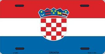 Croatia Aluminum License Plate International Flag thumbnail
