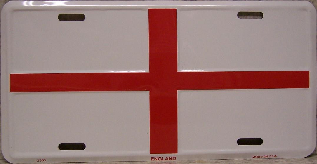 England Cross of Saint George Aluminum License Plate International Flag thumbnail