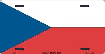 Czech Republic Aluminum License Plate International Flag thumbnail
