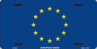European Union Aluminum License Plate International Flag thumbnail