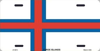 Faroe Islands Aluminum License Plate International Flag thumbnail