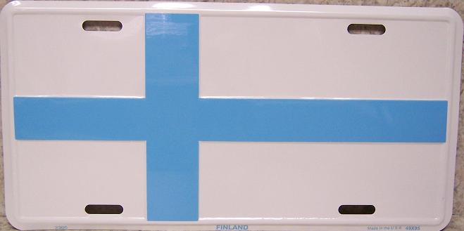 Finland Aluminum License Plate International Flag thumbnail